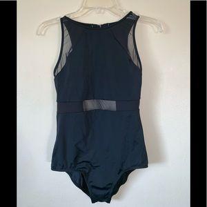 Womens jantzen black mesh bathing suit 👙